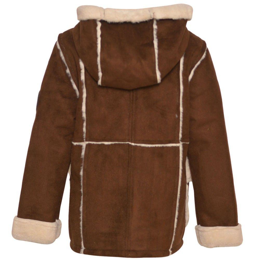 3717b5dd0d9f Urban Republic Big Girls Chocolate Faux Fur Accents Hooded Coat 7-16 ...