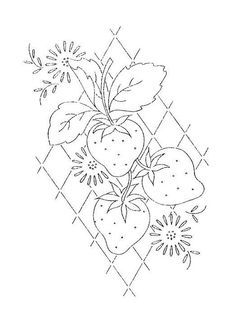Image result for strawberry pattern with outlined flower