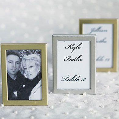Easel Back Mini Photo Frames Table Decorations