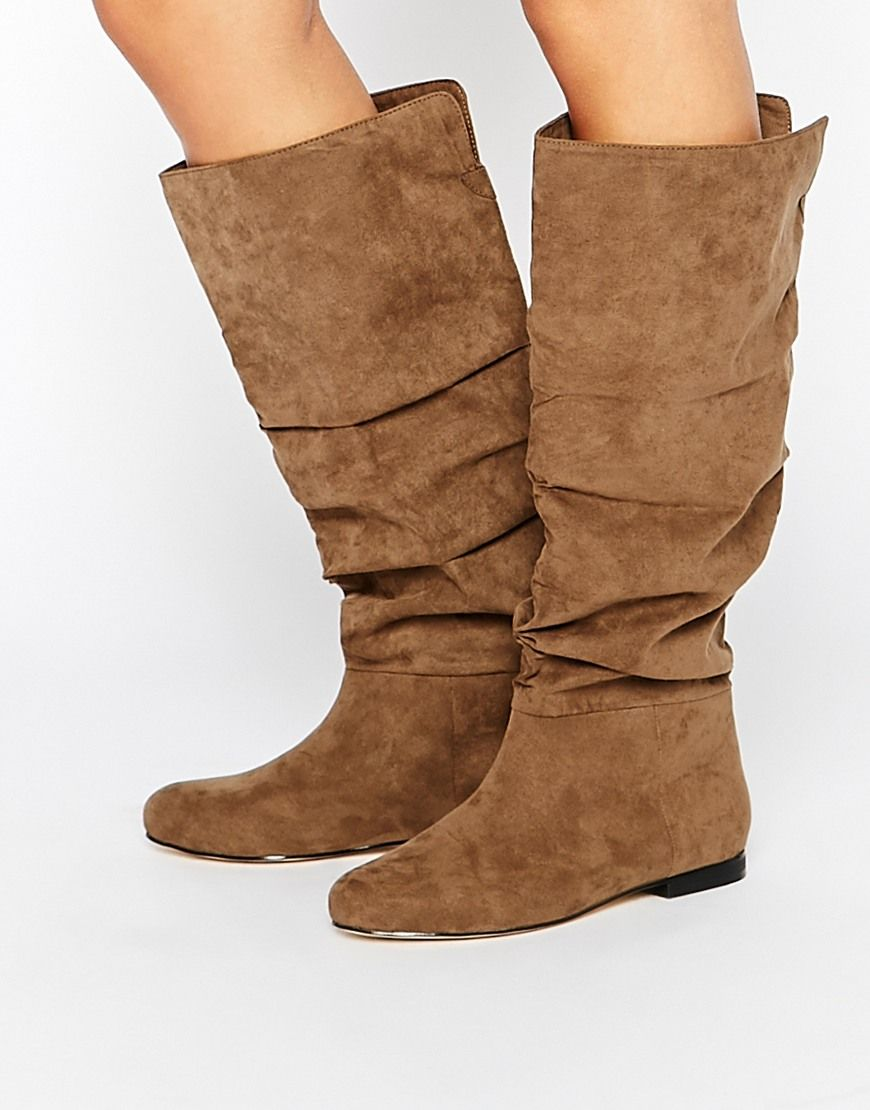 ASOS COLLABORATE Knee High Flat Slouch
