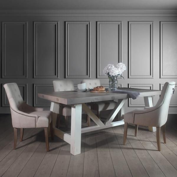 Pleasant Dorset Reclaimed Wood Extendable Trestle Table Dining Gmtry Best Dining Table And Chair Ideas Images Gmtryco