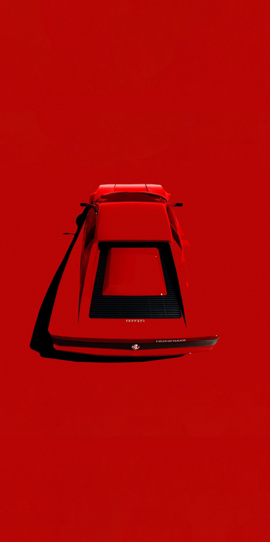 1440x2880 Ferrari, minimal, red car wallpaper | Fondos de ...