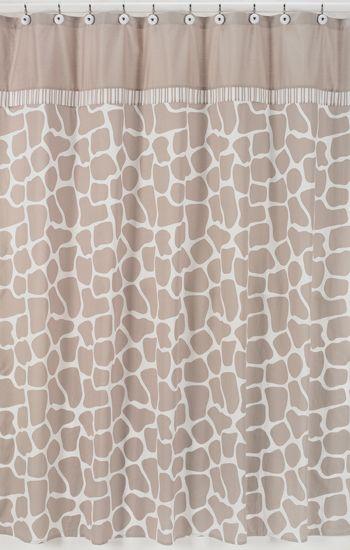 Giraffe Kids Bathroom Fabric Animal Print Bath Shower Curtain By Sweet Jojo Fabric Shower Curtains Traditional Shower Curtains Printed Shower Curtain