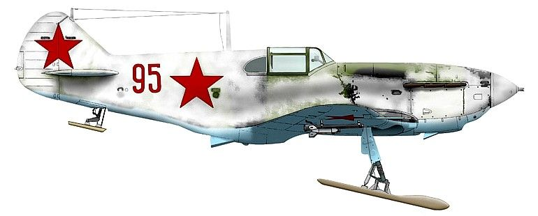 ЛаГГ-3. 19 Краснознаменный иап, февраль 1942 г.