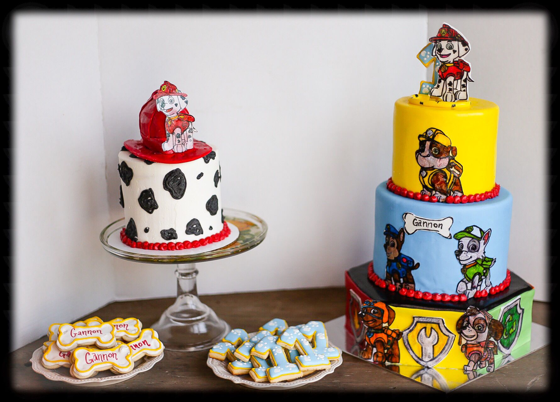 Paw Patrol First Birthday Cake With Coordinating Smash Cake And - Paw patrol birthday cake