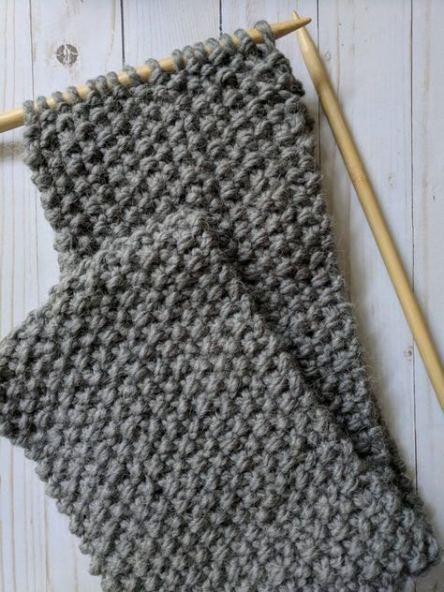 48 Ideas Knitting Scarf Pattern Moss Stitch #knitting ...