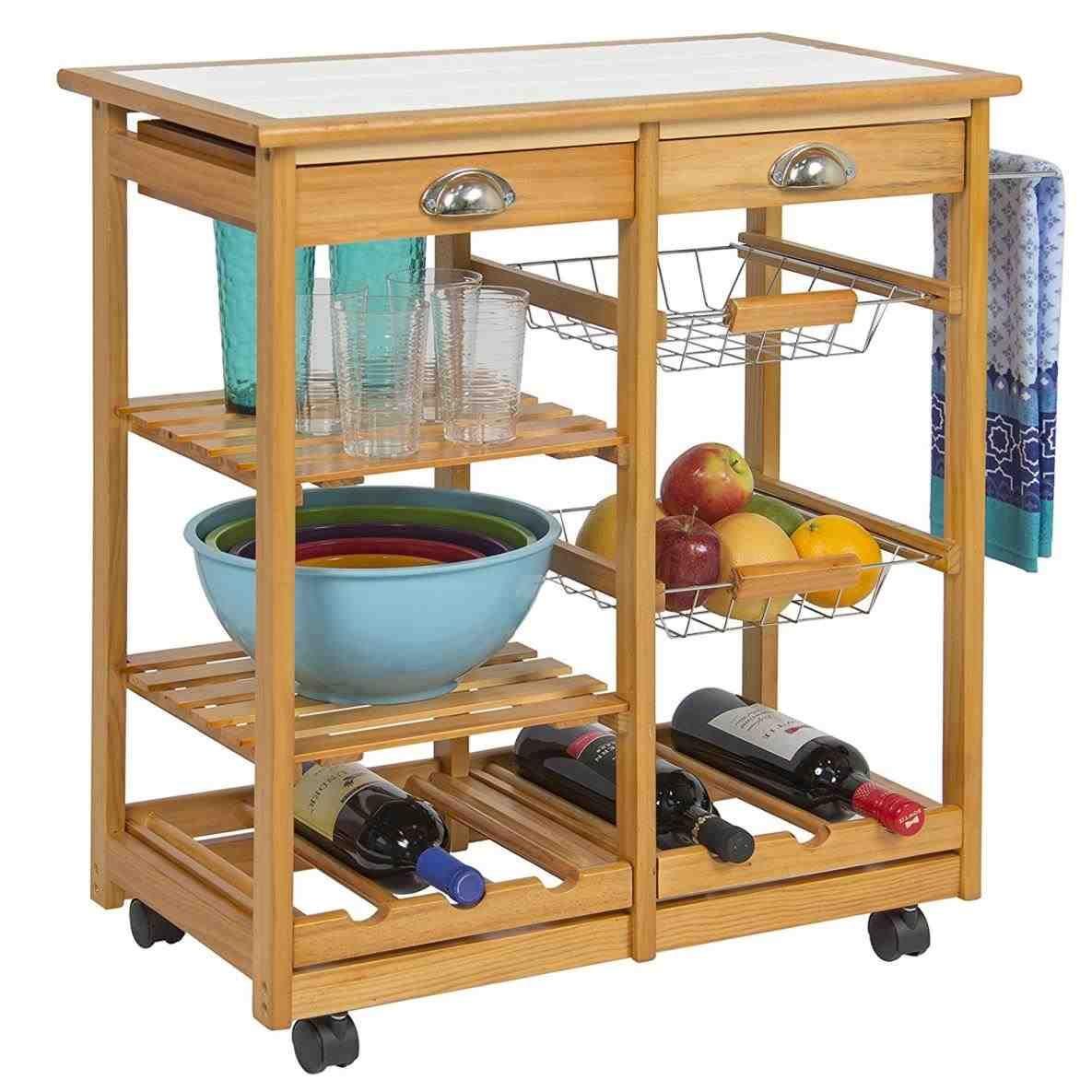 New Post narrow kitchen storage trolley | Woodworking ...