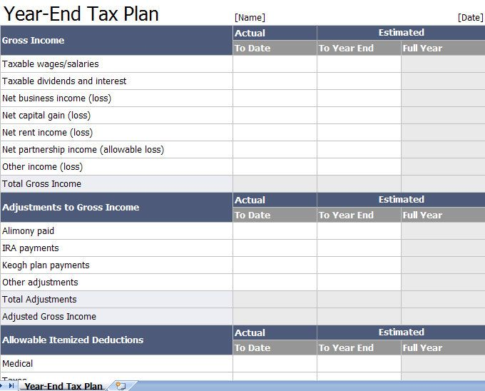 excel tax return workpapers preparation templates Organise with