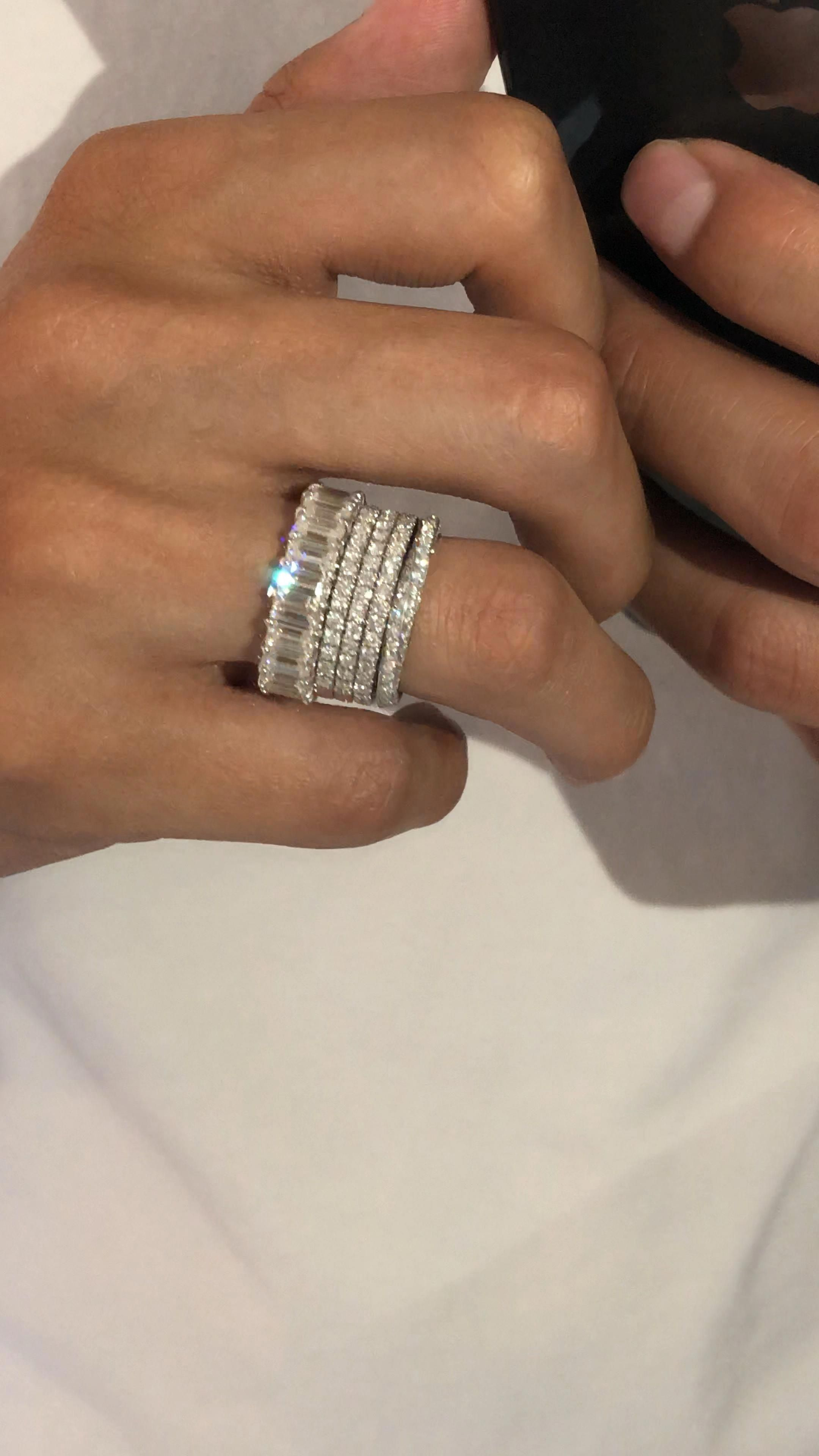 Diamond Engagement Ring Vintage Unique Art Deco Wedding Rose Gold