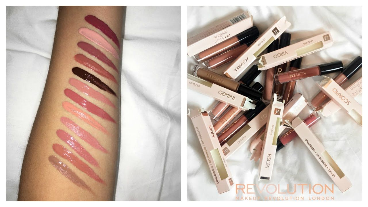 MY SIGN COLLECTON LIPGLOSS SWATCHES Makeup Revolution