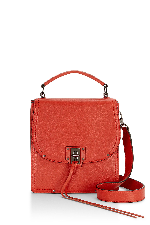Womens Midnighter Top-Handle Feed Bag Natural Handbag Rebecca Minkoff TrNeRF0N