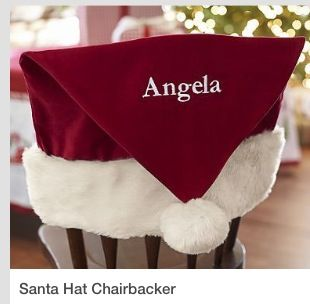 Pleasant Personalized Santa Hat Chair Backs Christmas Tea 2018 Squirreltailoven Fun Painted Chair Ideas Images Squirreltailovenorg
