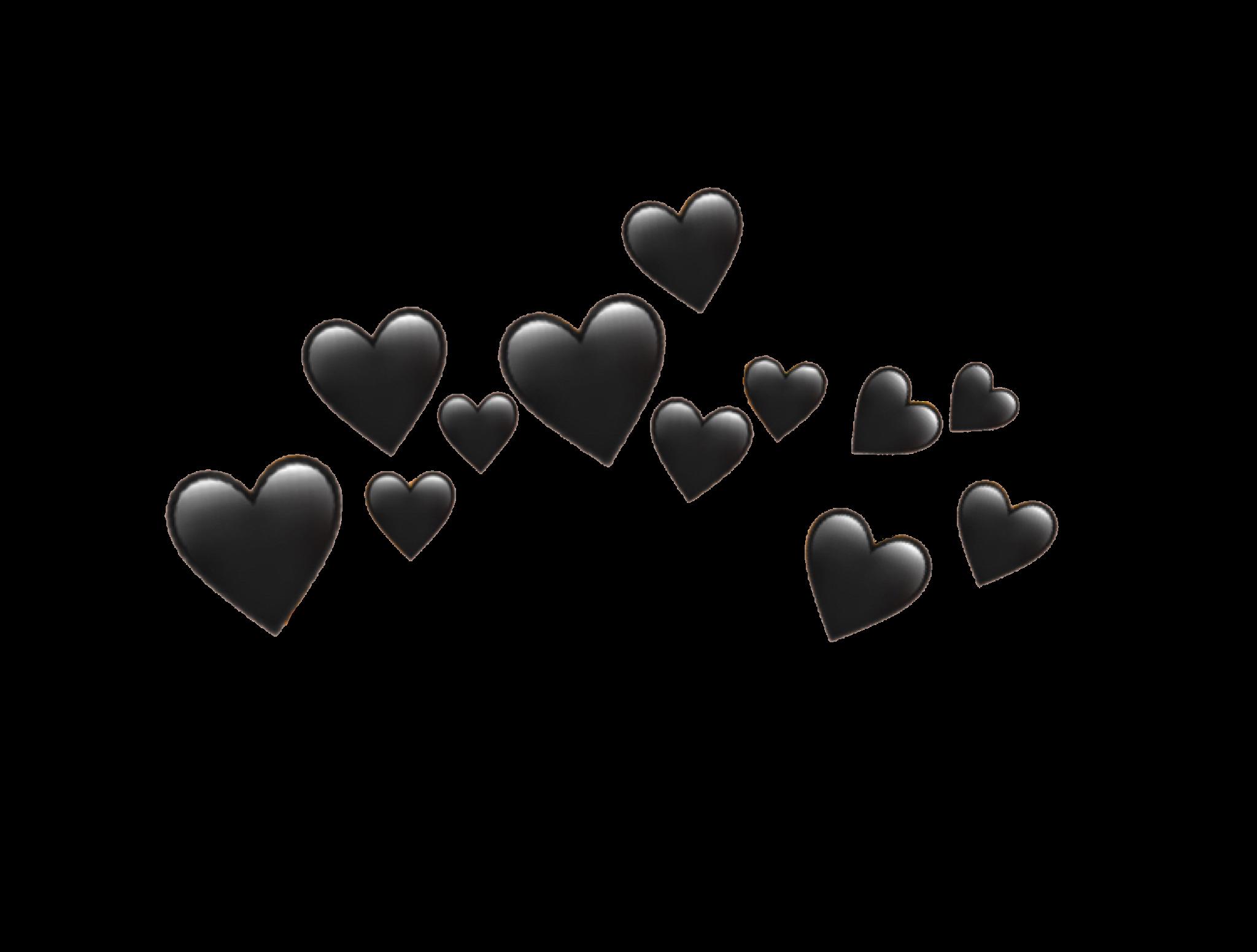 Download Black Heart Emoji Png Png Gif Base Black Heart Emoji White Heart Emoji Black Heart
