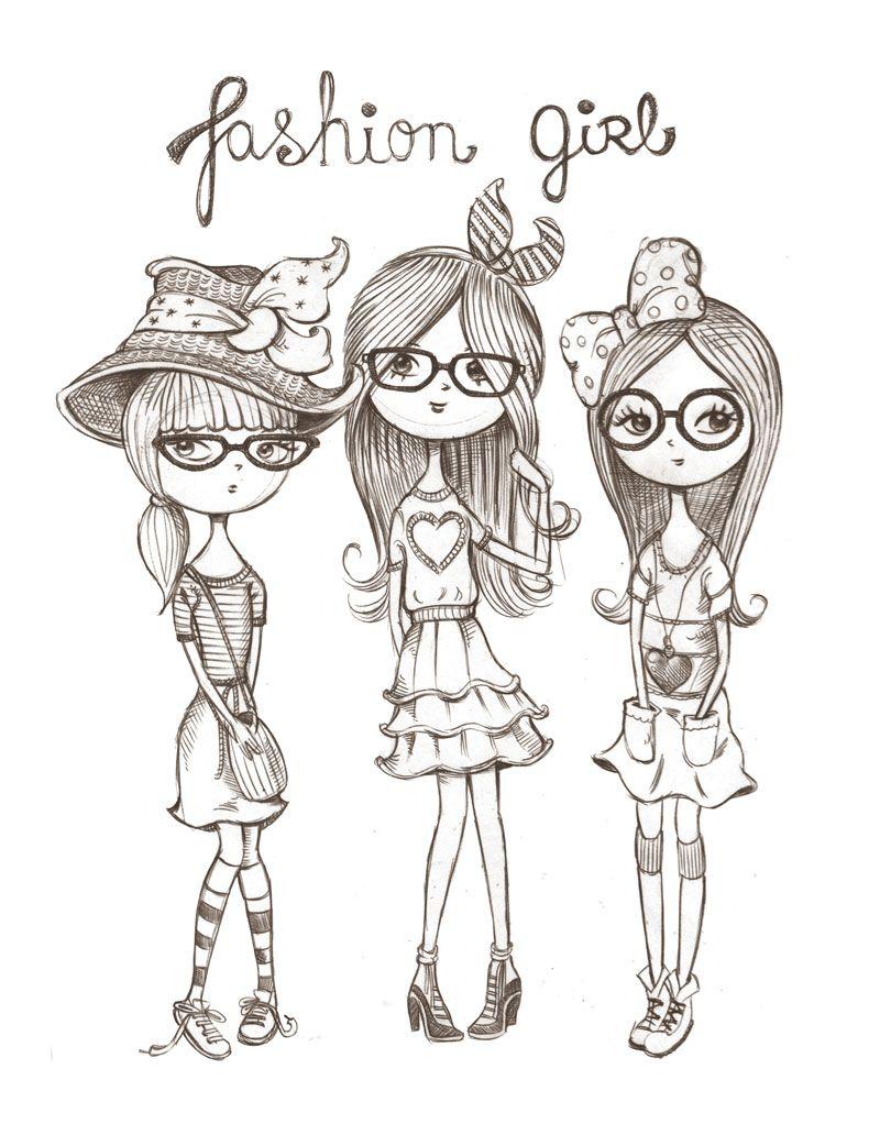 dibujo | PINTURA SOBRE TELA | Pinterest | Dibujo, Colorear y Muñecas