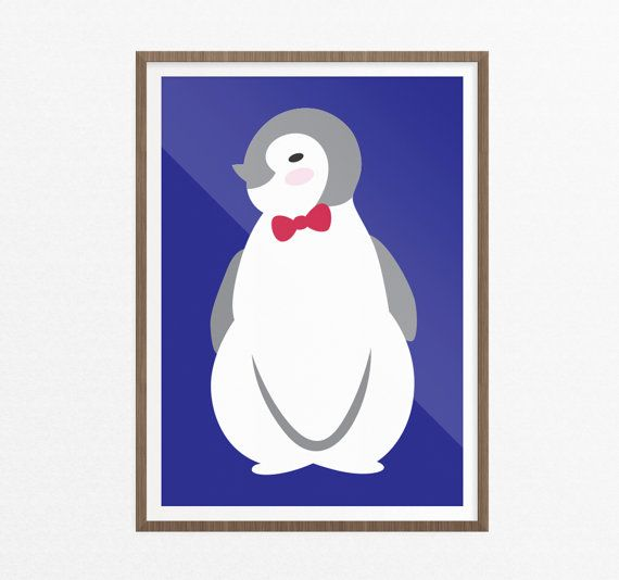 Baby Penguin Wall Art/Kids Art Print/Nursery by EasternCloudStudio