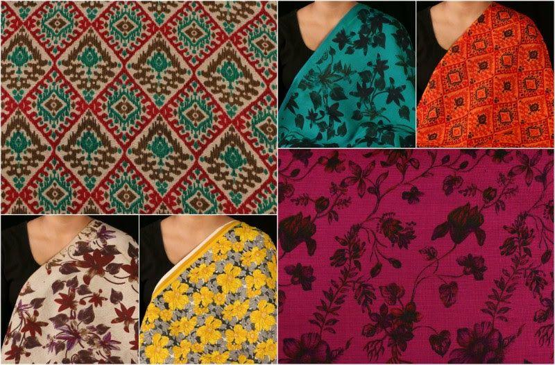 ✽ Digital Print Matte Textured Cotton Rayon Fabrics ✽