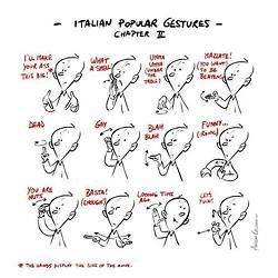 popular italian gestures, chapter 2