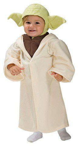 Pin for Later: 169 Warm Halloween Costume Ideas That Won't Leave Your Kids Freezing Star Wars Toddler Yoda Costume Star Wars Toddler Yoda Costume ($20)