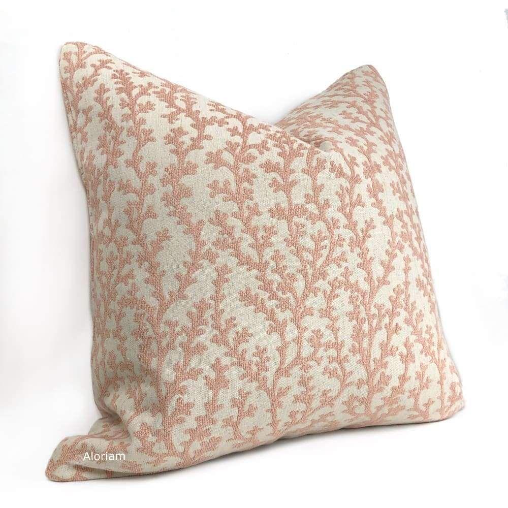 Beatrix Blush Pink Floral Vine Pillow Cover - Fits 26x26 insert (24x24 cover)
