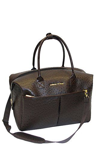 846a58478f Adrienne Vittadini Brown Faux Ostrich Leather Duffle Bag     Be sure to  check out this awesome product. (Note Amazon affiliate link)
