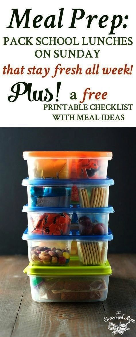 How to Pack School Lunches on Sunday that Stay Fresh All Week! Meal Prep How to Pack School Lunche