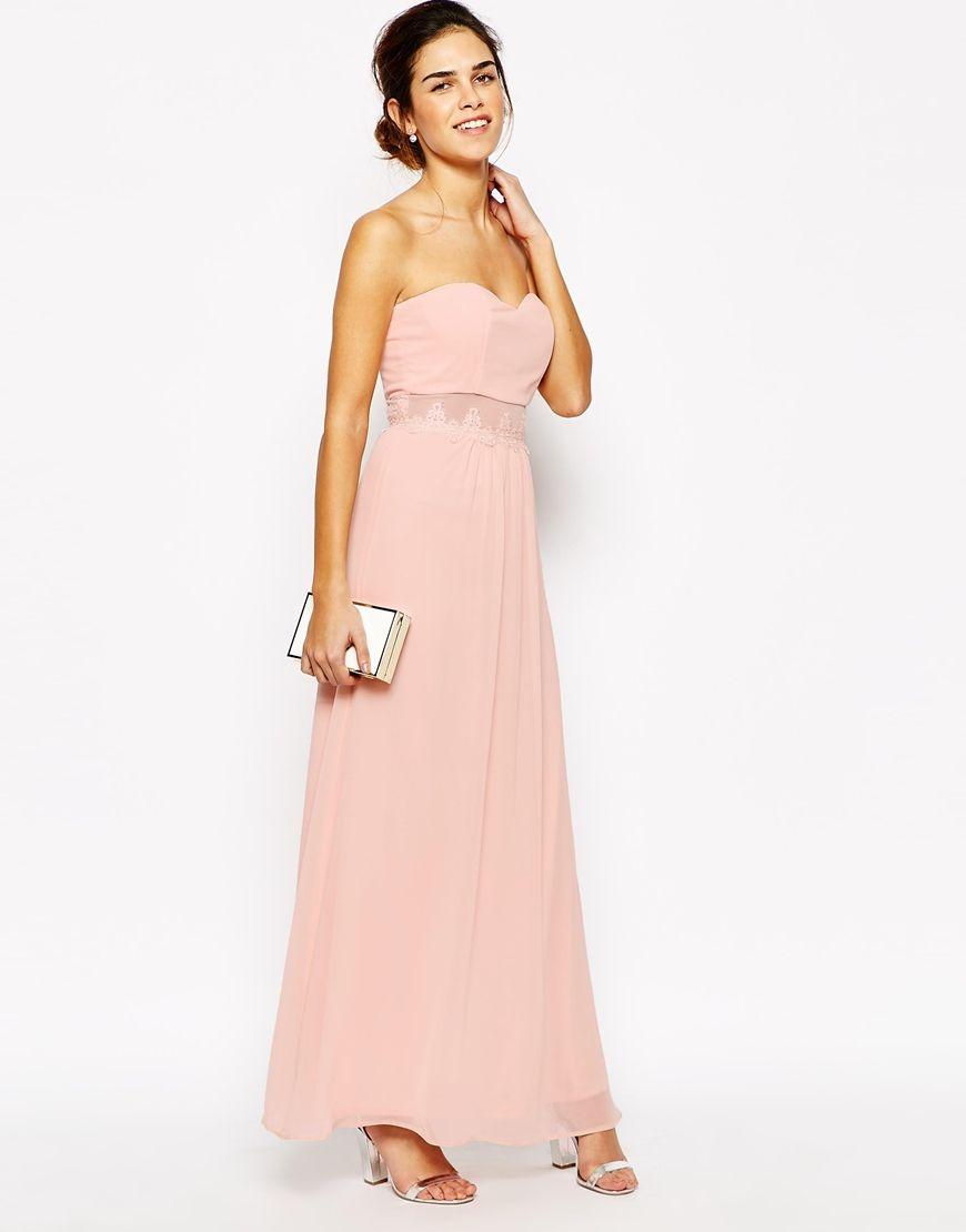 Elise Ryan Lace Sheer Insert Maxi Dress | Wedding - Bridesmaid ...