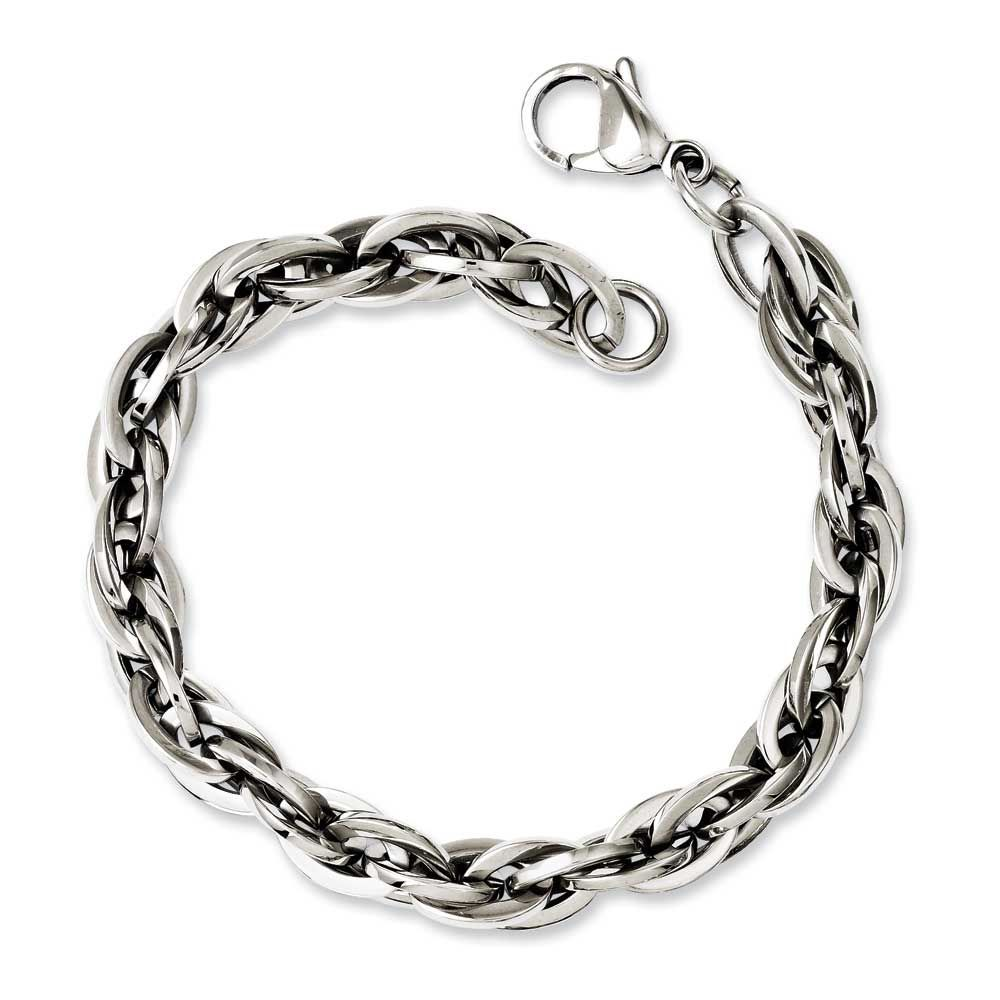 Chisel oval links in bracelet menus products pinterest