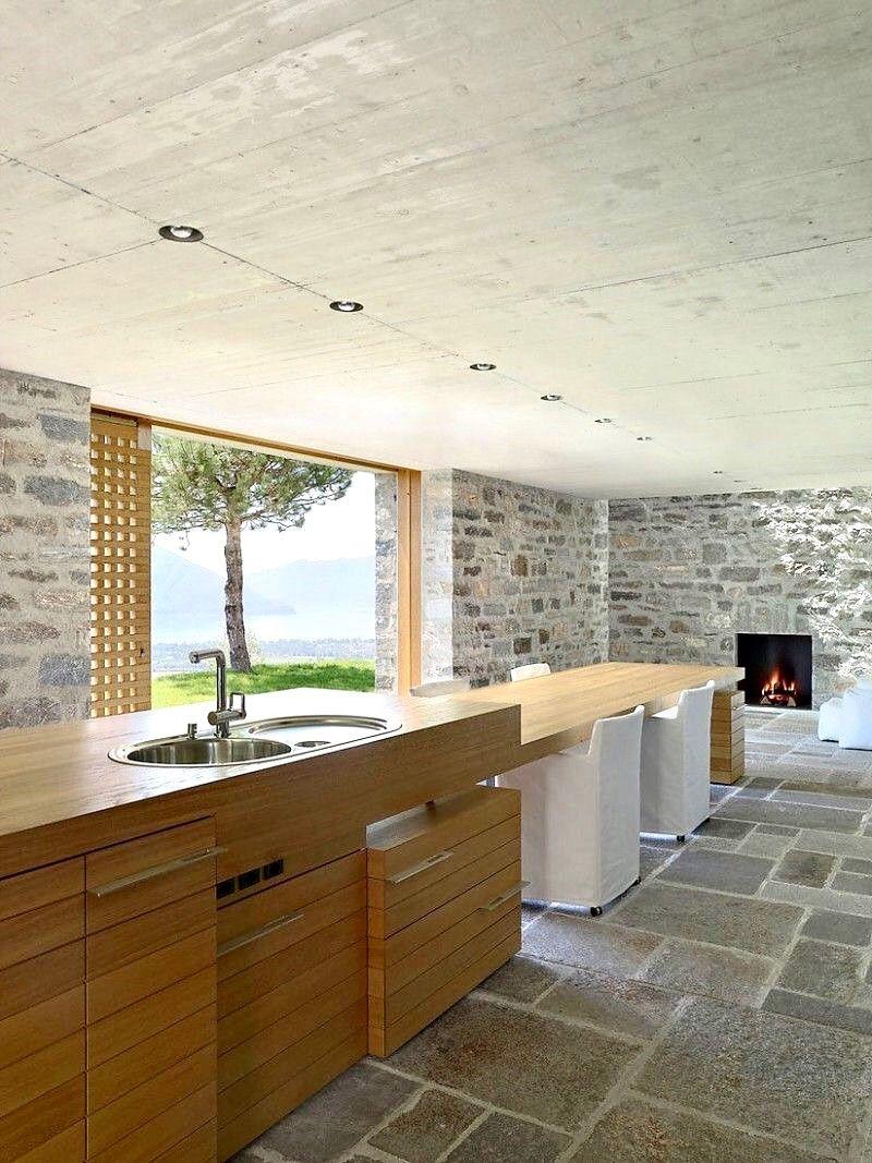 Swiss Studio Markus Wespi Jerome De Meuron Architetti Has Designed This Beautiful House Located In Brione Sop Wespi De Meuron Kuchendesign Design Fur Zuhause