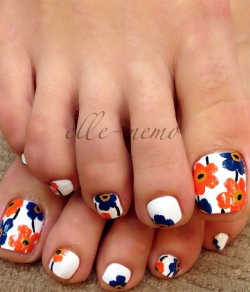 10+ Spring Toe Nail Artwork Styles, Tips, Trends & Stickers 2015 | Nail  Design - 50 Pretty Toenail Art Designs Pinterest Artwork, Spring And Toe