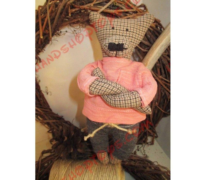 Текстильный медведь Эндрю. игрушка ручной работы