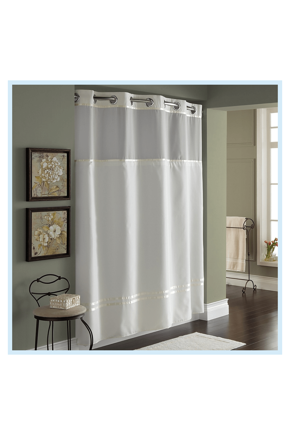 Hookless Escape 71 X 86 Long Fabric Shower Curtain And Liner Set