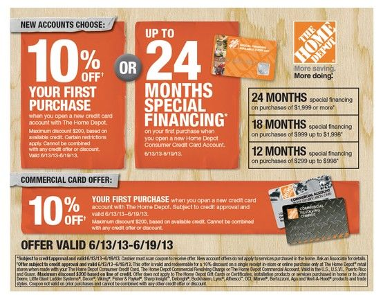 The Home Depot Has A Special Financing Offer For Labor Day Weekend
