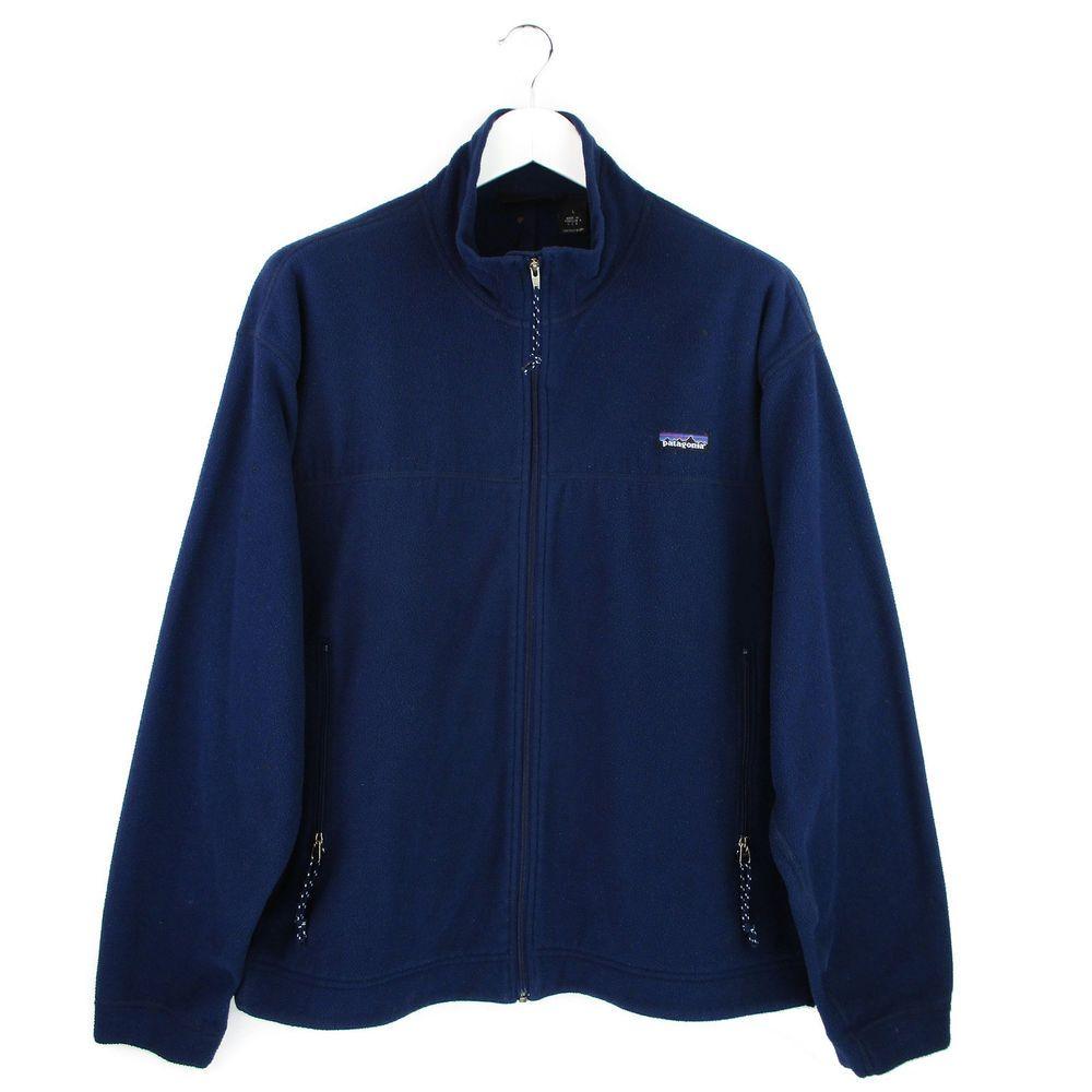 Vtg s patagonia synchilla fleece jacket size large l mens blue