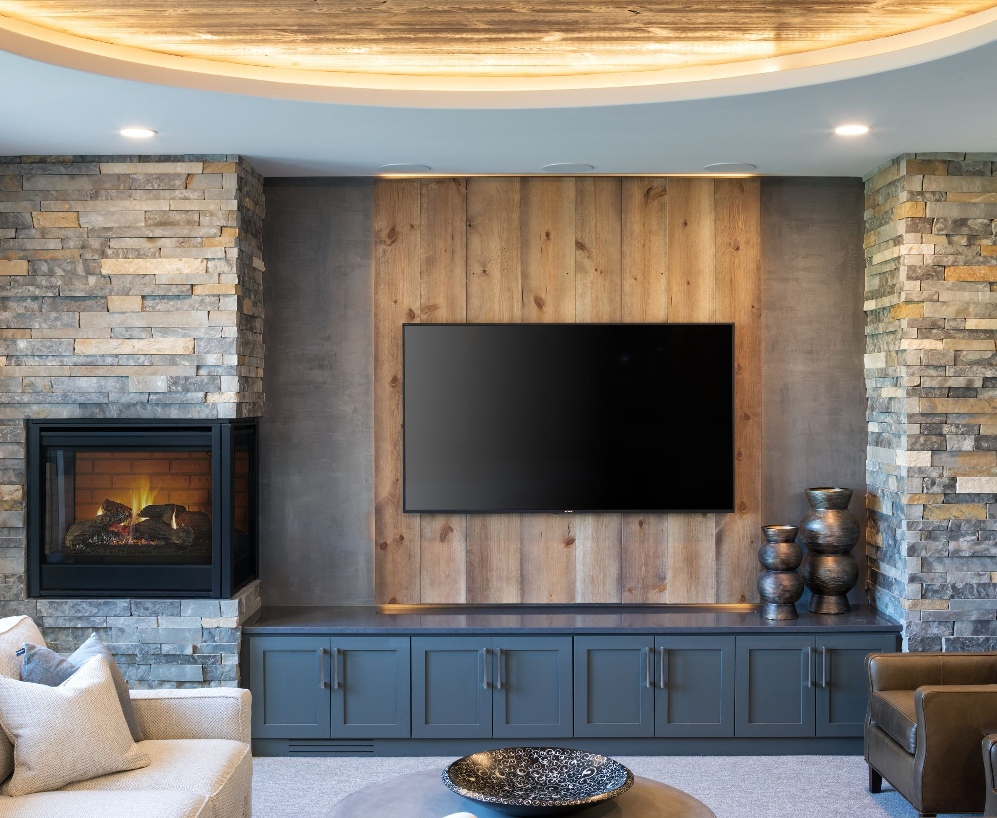 Add Warmth And Architectural Interest To Your Space And Enjoy The Power Of Fire In Creative New Ways With Heat Corner Gas Fireplace Home Vented Gas Fireplace
