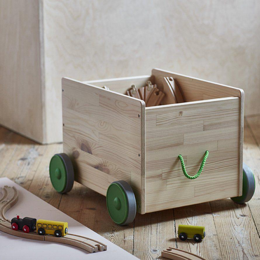 Un rangement à roulettes pour les jouets des enfants | Rangement jouet, Rangement jouet enfant ...