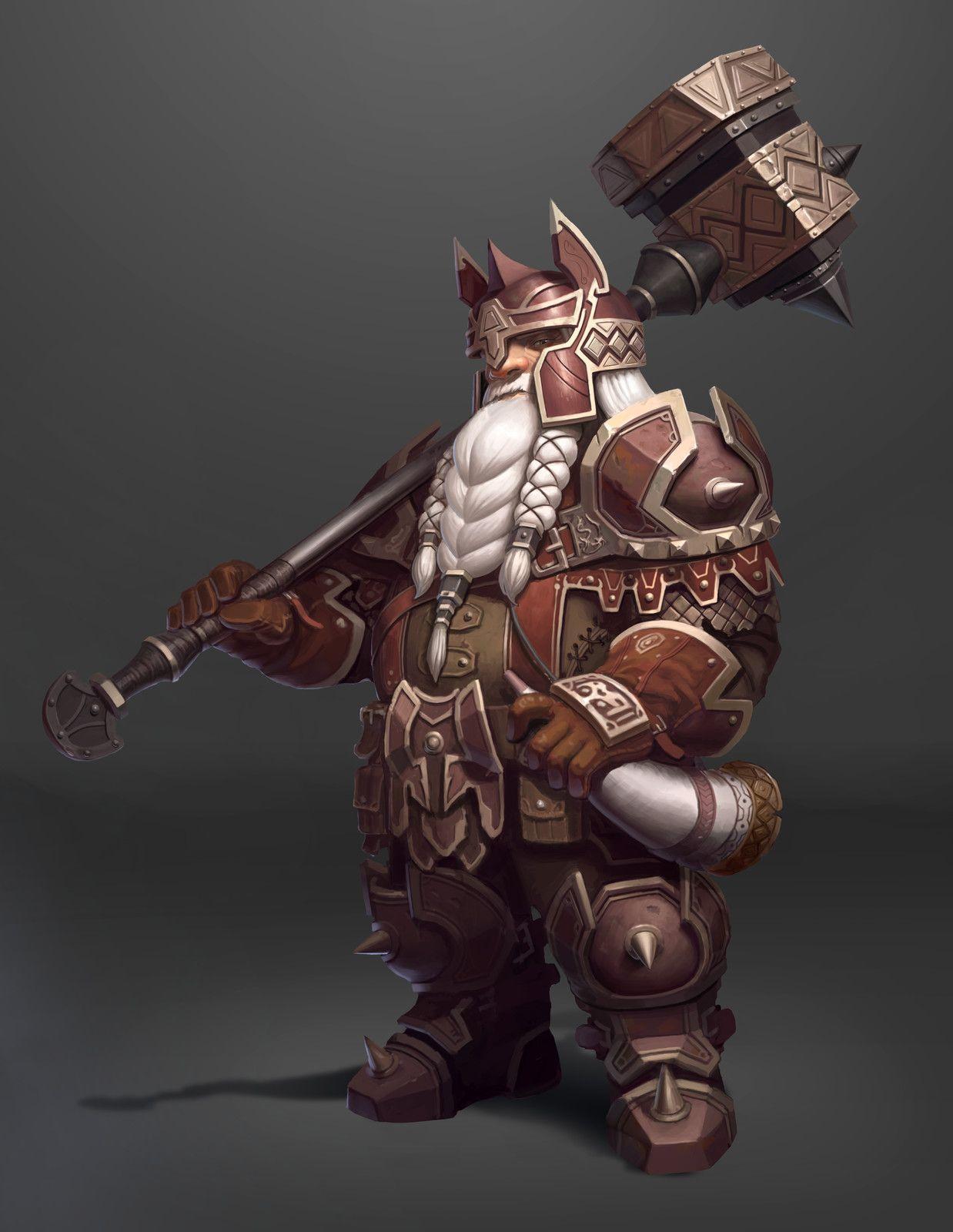 dwarf, Hyeon Gwan Nam on ArtStation at https://www.artstation.com/artwork/GVgzz | Fantasy dwarf ...