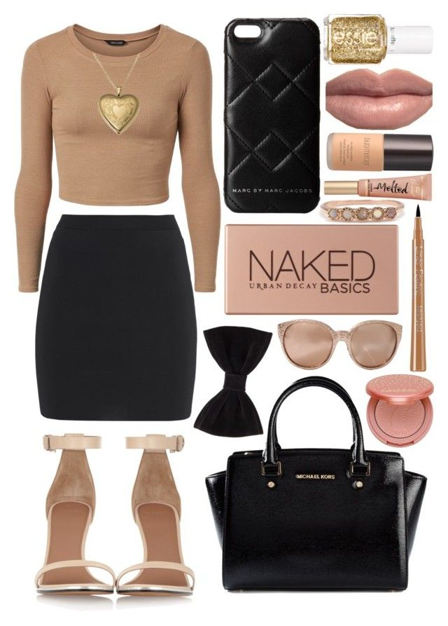 """""""Untitled #445"""" by chynelledreamz ❤ liked on Polyvore featuring T By Alexander Wang, Givenchy, MICHAEL Michael Kors, Forever 21, Marc by Marc Jacobs, Essie, Urban Decay, Laura Mercier, Linda Farrow and tarte"""