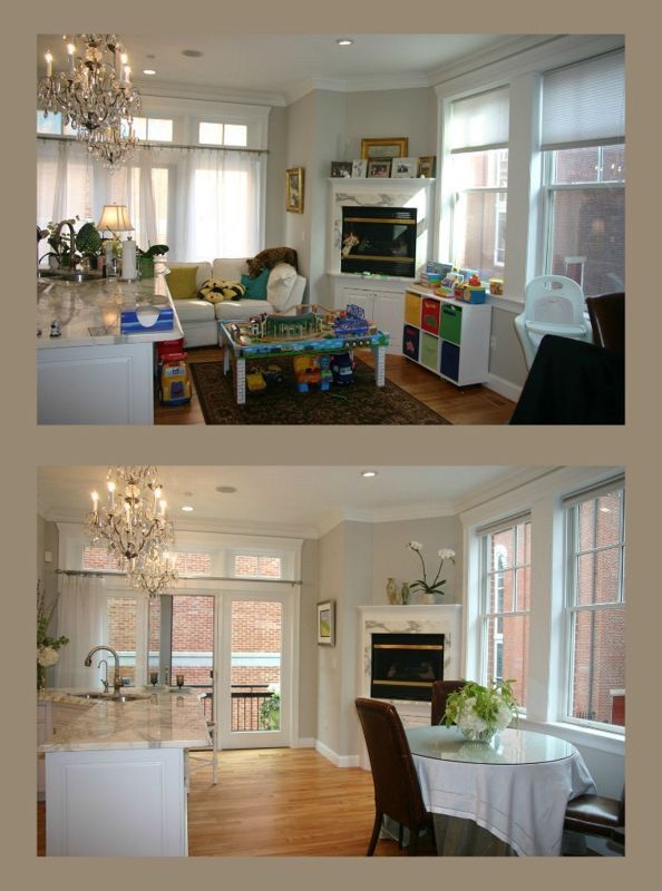 Home staging before and after. #realestate, #amsterdam www.mielankok.nl
