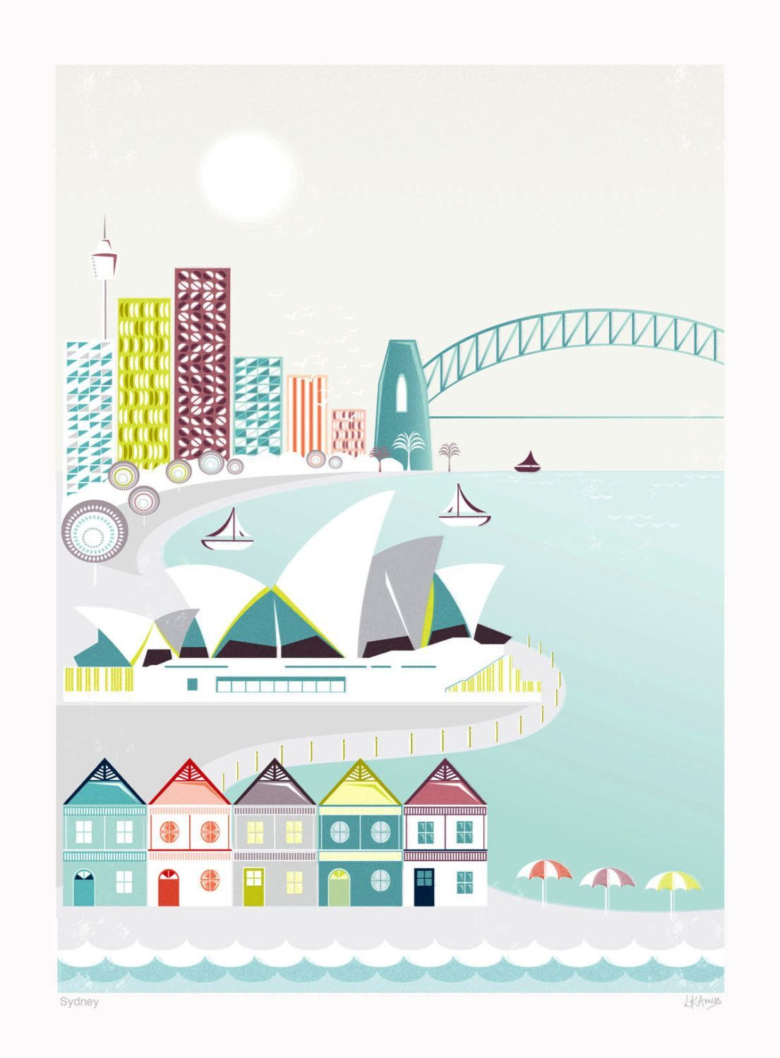 Sydney 0063 Vintage Travel Poster Art