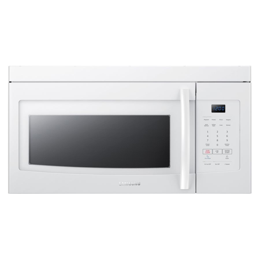 Samsung 1 6 Cu Ft Over The Range Microwave White Common