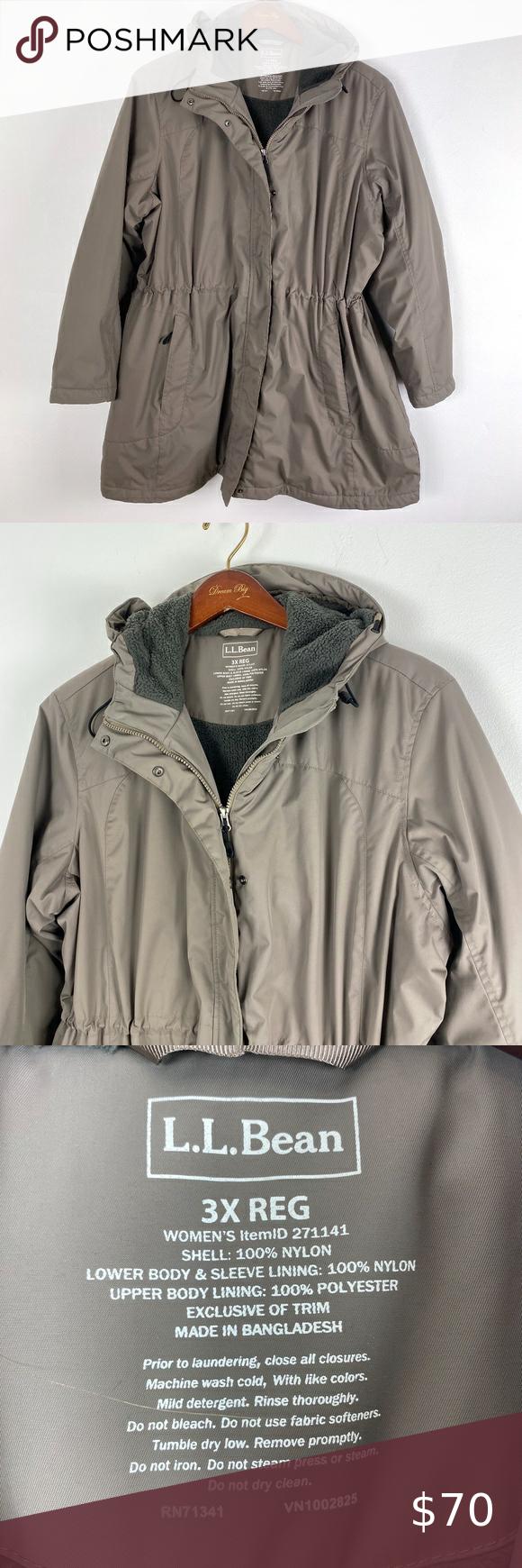 L L Bean Winter Jacket Women S Size 3x Beige Womens Quilted Jacket Womens Black Winter Jacket Girls North Face Jacket [ 1740 x 580 Pixel ]