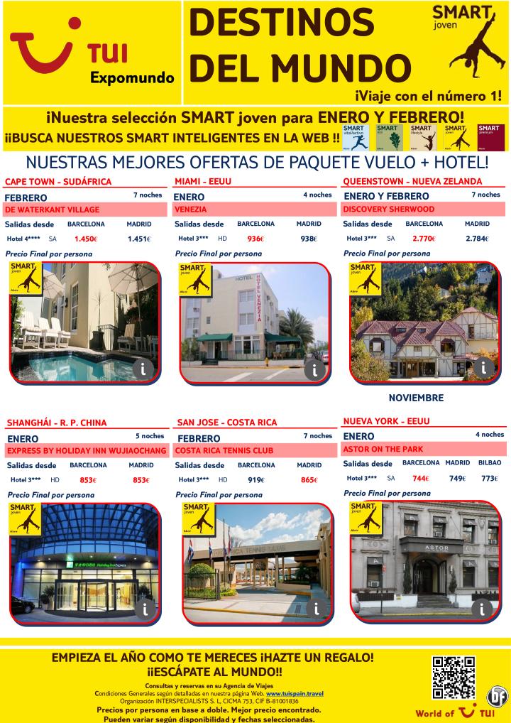 Destinos del Mundo SMART Joven salidas Enero y Febrero. Precio final desde 744€ ultimo minuto - http://zocotours.com/destinos-del-mundo-smart-joven-salidas-enero-y-febrero-precio-final-desde-744e-ultimo-minuto-2/