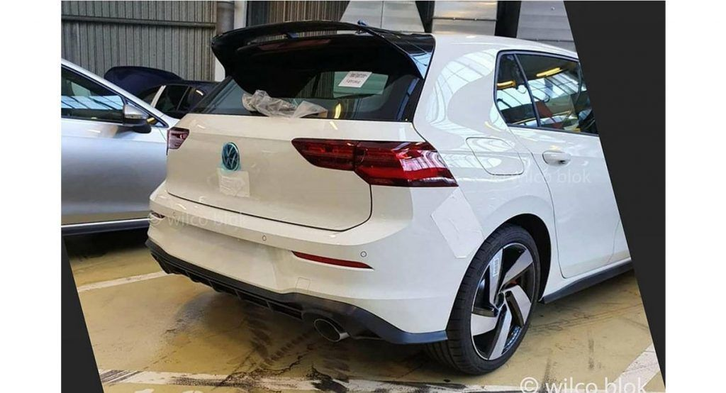 2020 Vw Golf Gti Likely Reveals Rear End With Big Roof Spoiler In New Image An Image Allegedly Showing The Re In 2020 Golf Gti Volkswagen Golf Gti Volkswagen Golf