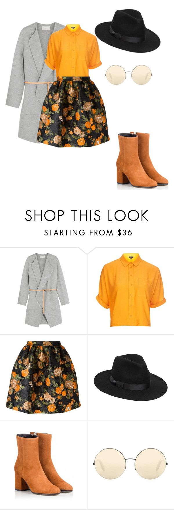 """""""50s queen"""" by daddy-allahu-akbar ❤ liked on Polyvore featuring Vanessa Bruno, Topshop, MSGM, Lack of Color, Fratelli Karida and Victoria Beckham"""