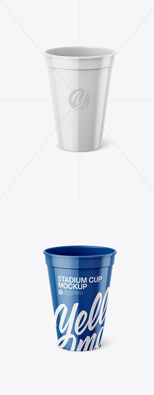 Glossy Stadium Cup Mockup Front View High Angle Shot 25823 Tif Avaxgfx All Downloads That You Need In One Place Stadium Cups High Angle Shot High Angle