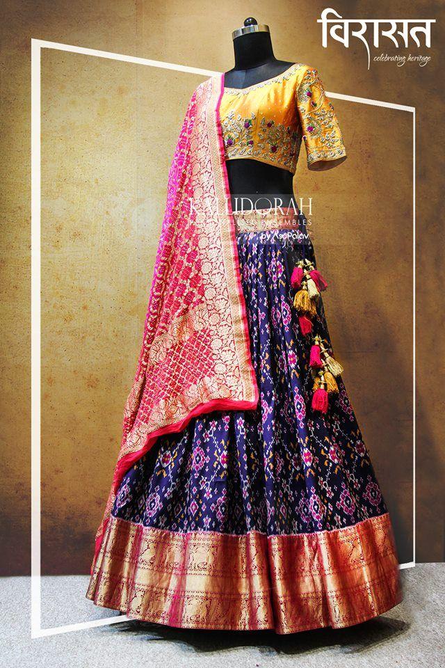5499d2b924 Patola lehenga Choli Designs, Lehenga Designs, Blouse Designs, Banarasi  Lehenga, Lengha Choli