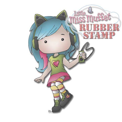 Polka Dot Pals Tanzen Rubber Stamp from Little Miss Muffet Stamps