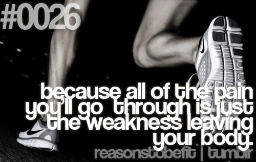 All Of The Pain Youll Go Through Is Just The Weakness Leaving Your