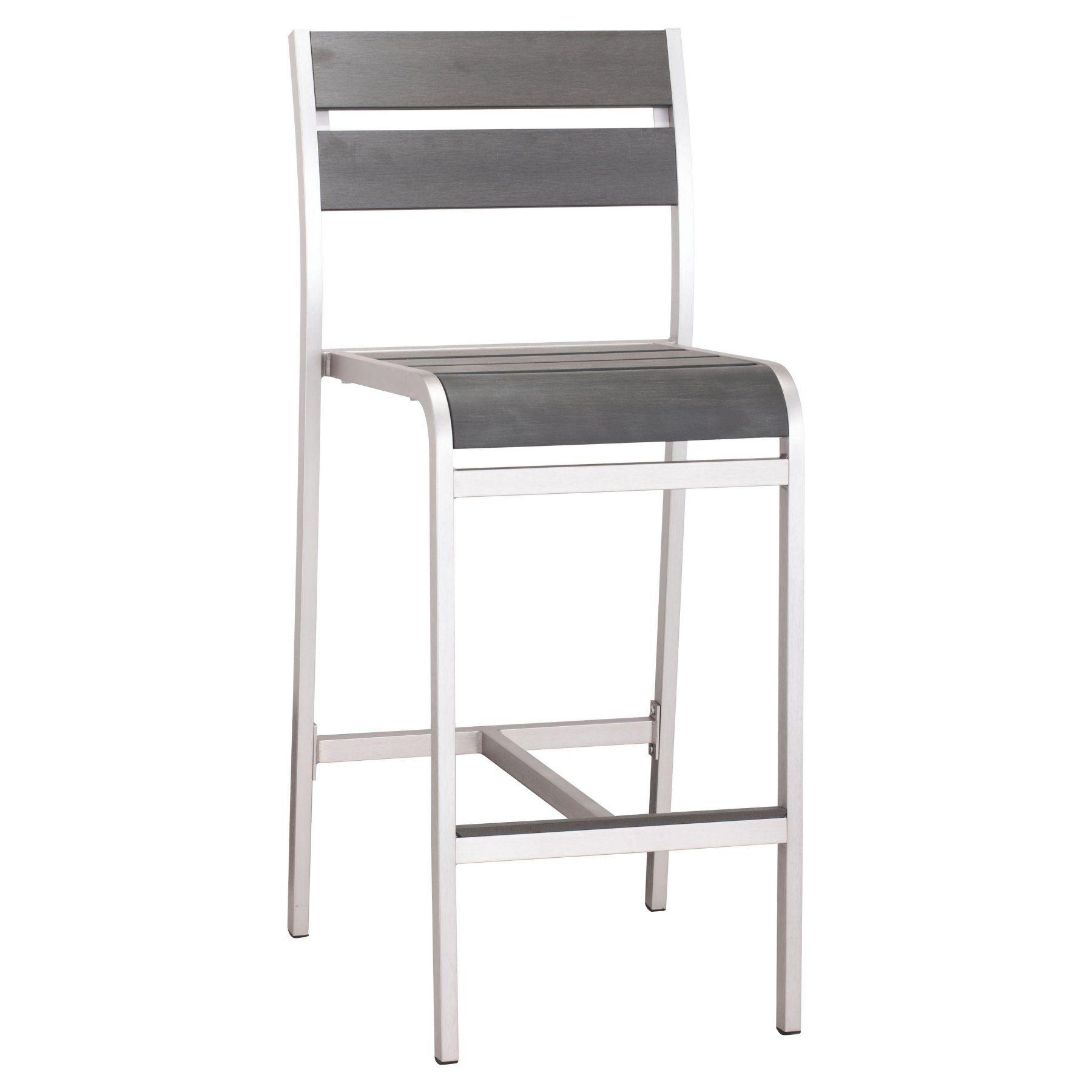 Zuo Vive Megapolis Aluminum Bar Armless Chair - 703186