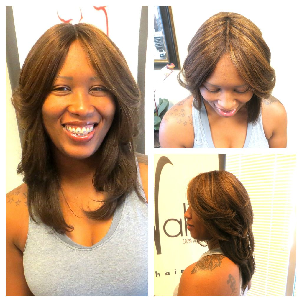 invisible part full sew in | healthy weave styles | pinterest